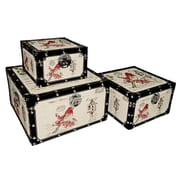 Cheungs Square Trunk with Red Bird (Set of 3)