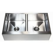 eModern Decor Ariel 36'' x 21'' Stainless Steel 50/50 Double Bowl Farmhouse Kitchen Sink