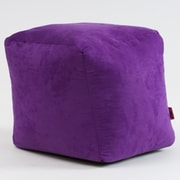 Home Loft Concepts Whitney Bean Bag Cube Ottoman; Purple