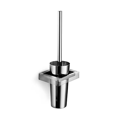 WS Bath Collections Skuara Wall MountedToilet Brush and Holder
