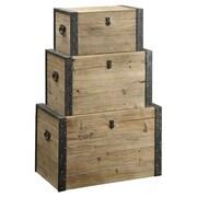 Coast to Coast Imports 3 Piece Nesting Trunk Set