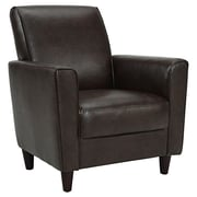 DHI Enzo Faux Leather Arm Chair; Wenge