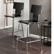 Holly & Martin 29.25'' Bar Stool (Set of 2); Black
