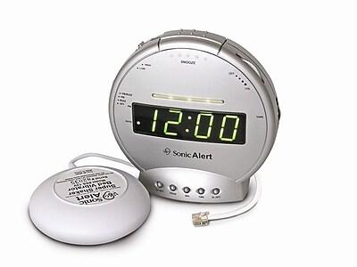 Sonic Alert Sonic Boom Vibrating Alarm Clock w/ Telephone Signaler WYF078276571638