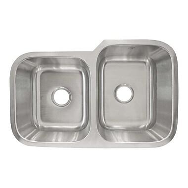 LessCare 31.5'' x 20.25'' Undermount Double Basin Kitchen Sink