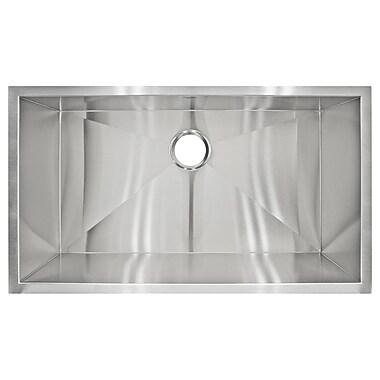 LessCare 32'' x 19'' Undermount Single Basin Kitchen Sink