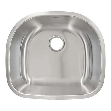 LessCare 23.63'' x 21'' Undermount Single Bowl Kitchen Sink