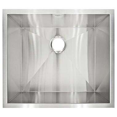 LessCare 23'' x 20'' Undermount Single Basin Kitchen Sink