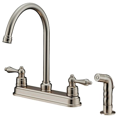 LessCare Double Handle Pull-Down Kitchen Faucet w/ Water Sprayer