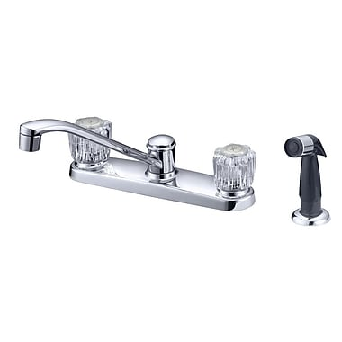 LessCare Double Handle Kitchen Faucet w/ Water Sprayer