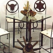 Grace Horseshoe Dining Table; Aged Iron