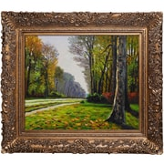 Tori Home The Road to Bas-Breau, Fontainebleau by Monet Framed Hand Painted Oil on Canvas