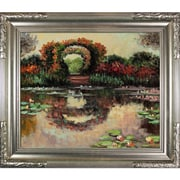 Tori Home Blutentore in Giverny by Monet Framed Hand Painted Oil on Canvas