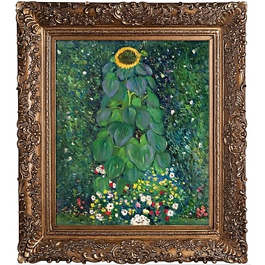 Tori Home Sunflower by Gustav Klimt Framed Original Painting
