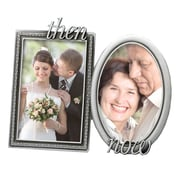 Fetco Home Decor 2 Piece 4'' x 6'' Wedding Krystal Then & Now Picture Frame Set