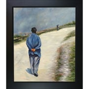 Tori Home Homme Portant Une Blouse by Caillebotte Framed Hand Painted Oil on Canvas