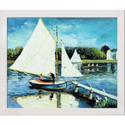 Tori Home The Sailing at Argenteuil by Monet Framed Hand Painted Oil on Canvas