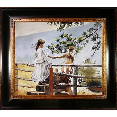 Tori Home On the Stile by Winslow Homer Framed Original Painting