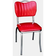 Richardson Seating Retro Home Side Chair; Cracked Ice Red
