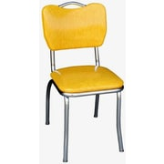 Richardson Seating Retro Home Side Chair; Yellow