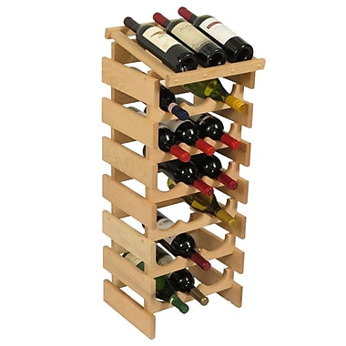 Wooden Mallet Dakota 21 Bottle Floor Wine Rack; Unfinished