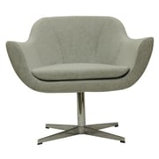 B&T Design Green Camira Wool Lounge Chair; Light Grey