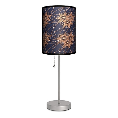 Lamp-In-A-Box Decor Art Flower Web 20'' Table Lamp