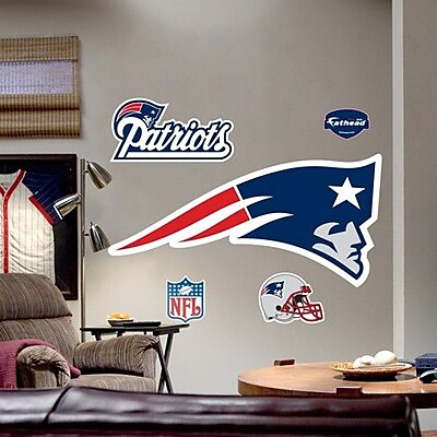 Fathead NFL Logo Wall Decal; New England Patriots WYF078276559346