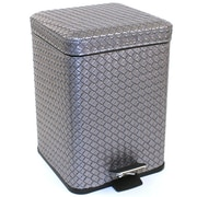 Gedy by Nameeks Marrakech 2.56 Gallon Step-On Metal Trash Can; Silver