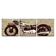 Artefx Decor Motorcycle Triptych by Artefx Designs 3 Piece Painting Print on Canvas Set