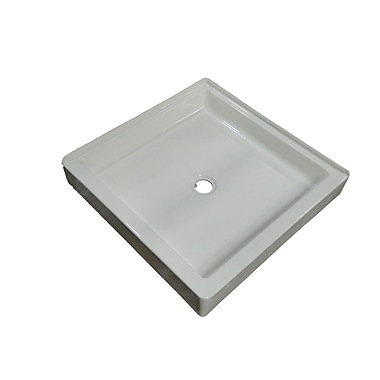 American Acrylic Acrylic Double Threshold Shower Base; Bone