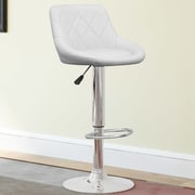 CorLiving Adjustable Height Swivel Bar Stool with Cushion (Set of 2); White