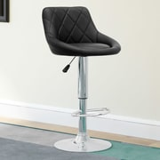 CorLiving Adjustable Height Swivel Bar Stool with Cushion (Set of 2); Black