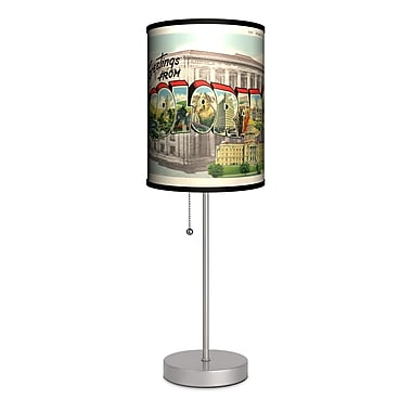 Lamp-In-A-Box Travel Colorado Postcard 20'' Table Lamp