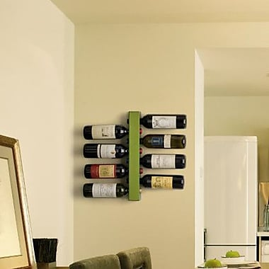 Vynebar 8 Bottle Wall Mounted Wine Rack; Matte Green