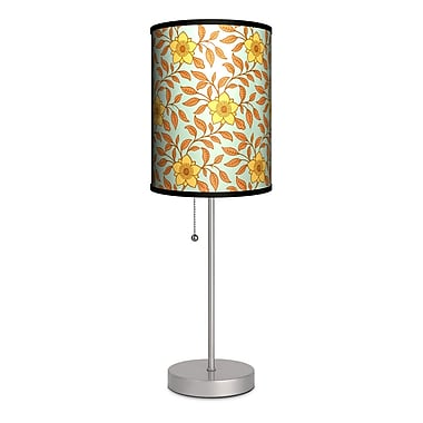 Lamp-In-A-Box Decor Art Floral Print 20'' Table Lamp