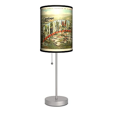 Lamp-In-A-Box Travel Pennsylvania Postcard 20'' Table Lamp