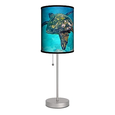 Lamp-In-A-Box Artist Sean Davey ''Turtle Soaring'' 20'' Table Lamp