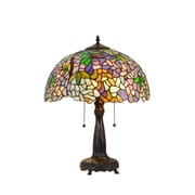 Chloe Lighting Wisteria Phoebe 21.85'' H Table Lamp with Bowl Shade