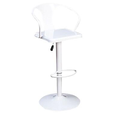 TMS Miraval Adjustable Height Swivel Bar Stool; White