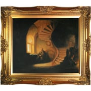 Tori Home The Philosopher in Meditation by Rembrandt Framed Hand Painted Oil on Canvas