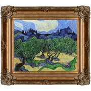 Tori Home Olive Trees w/The Alpilles In The Background by Van Gogh Framed Hand Painted Oil on Canvas