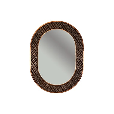 Premier Copper Products Braided Hand Hammered Oval Copper Mirror