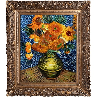 Tori Home Flower Collage by Vincent Van Gogh Framed Original Painting