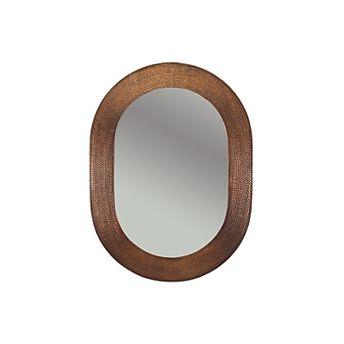 Premier Copper Products Hand Hammered Oval Copper Mirror