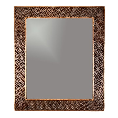 Premier Copper Products Braided Hand Hammered Copper Mirror
