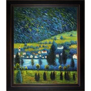 Tori Home Pendio Montano a Unterach by Klimt Framed Hand Painted Oil on Canvas