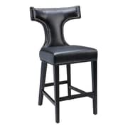 Sunpan Modern 5West 26'' Serafina Bar Stool with Cushion; Black