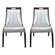 Ceets Barrel Side Chair (Set of 2); Silver