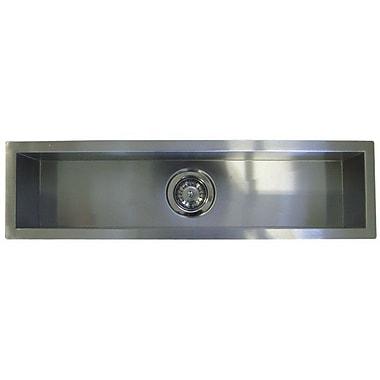 eModern Decor 42'' x 8.5'' Single Narrow Bowl Undermount Kitchen Sink